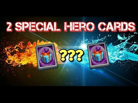 Castle Clash 2 Special Hero Cards!