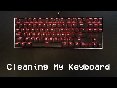 A time lapse of me cleaning my mechanical keyboard.