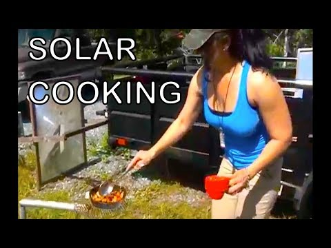 Organic Solar Cooking Recipe with Denise Rojas Parabolic Mirror