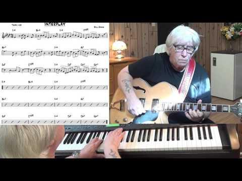 Interplay - Jazz guitar & piano cover ( Bill Evans )