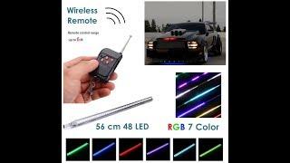 Luz led para carro auto fantastico control remoto varios colores