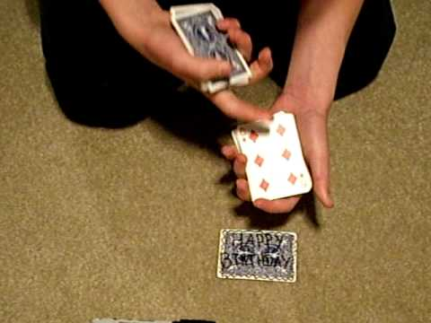 The Happy Birthday Card Trick YouTube – Birthday Card Trick