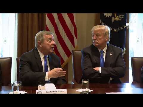 President Trump Meets with Bipartisan Members of the Senate on Immigration (ESPAÑOL)