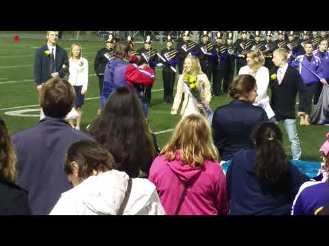 10 year old Sabra gets crowned  Ephrata PA. Homecoming Queen 2017