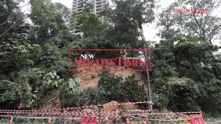 Retaining wall collapses in Bangsar, triggering landslide; road closed off