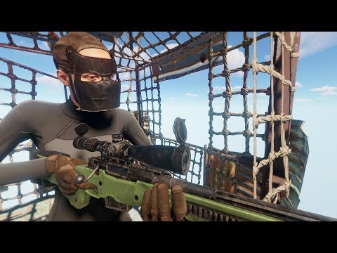 Rust - Снайпер на воздушном шаре!