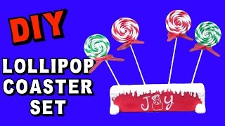 Diy Lollipop Christmas Coaster Set   Another Coaster Friday Craft Klatch Christmas Series