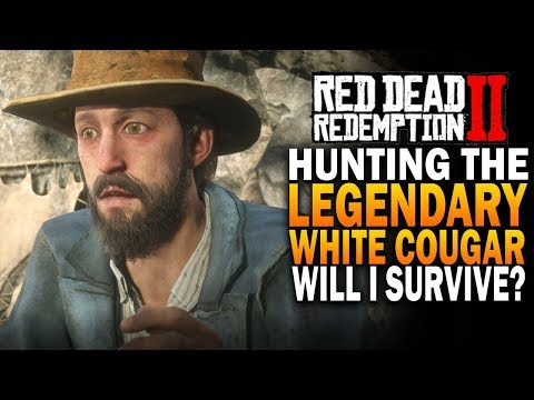 Hunting The Legendary White Cougar! Red Dead Redemption 2 Hunting