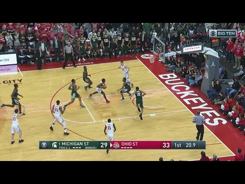 Big Ten Basketball Highlights: Michigan State at Ohio State