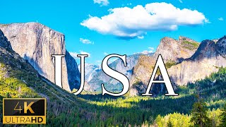 FLY NG OVER THE USA 4K UHD - Relaxing Music With Stunning Beautiful Nature 4K Video Ultra HD