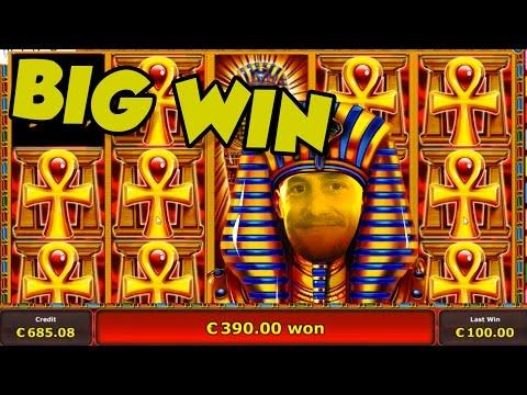 Online Slot - Pharaos Tomb Big Win and bonus round (Casino Slots) Huge win - 동영상