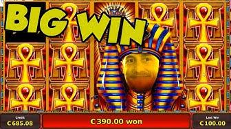 Online Slot - Pharaos Tomb Big Win and bonus round (Casino Slots) Huge win