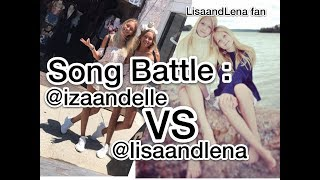 Musical.ly Song Battle Compilation #2 | Lisa and Lena VS Iza and Elle