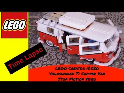 LEGO Volkswagen T1 Camper Van Set 10220 Time Lapse Build