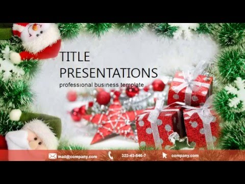 Christmas Wishes Powerpoint Template Presentation