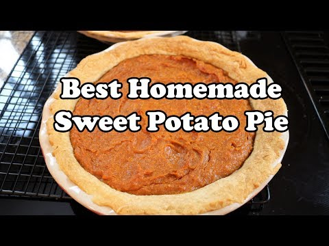 Best Homemade Sweet Potato Pie – Southern Style From Scratch – Live Cooking – Chef Lorious
