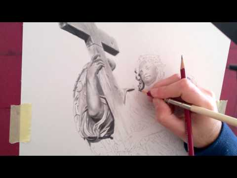 How to draw a statue (head) - Step by Step