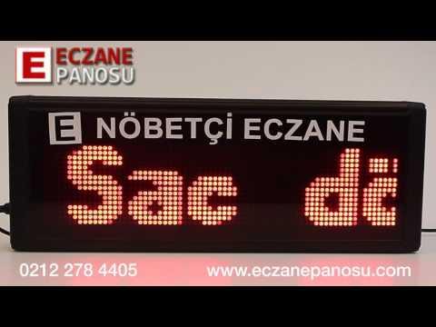 Nöbetçi Eczane Panosu 40cm - Örnek Mesaj