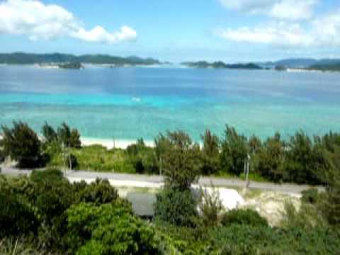 阿嘉島のニシ浜展望台からのパノラマ風景