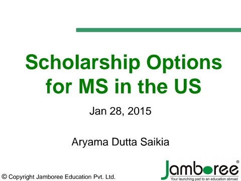 Scholarship options for MS education in the USA
