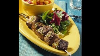 Labor Day Recipe - Beef Ranch Steak Kebabs With Grilled Pineapple Salsa