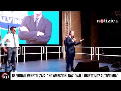 """Regionali Veneto, Zaia su Salvini: """"Non ho progetti nazionali, nostro obiettivo? Autonomia"""""""