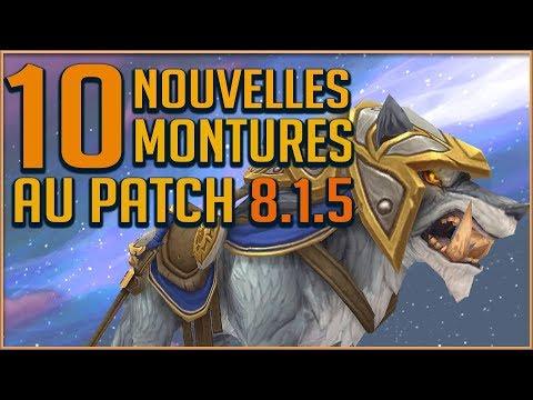 10 NOUVELLES MONTURES AU PATCH 815