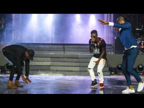 Pappy Kojo & Joey B hail Tinny on stage @ Vodafone Ghana Music Awards '15 | GhanaMusic.com Video