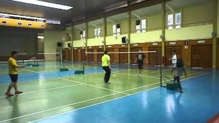 Badminton Day: Izwan & Amir vs Aiman & Arif