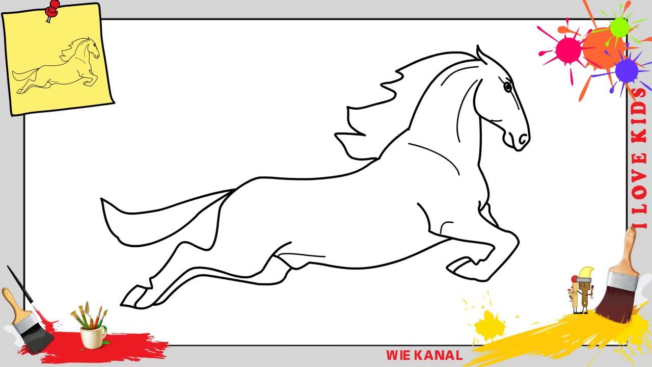 Pferd Zeichnen 3 Schritt Für Schritt Für Anfänger Kinder