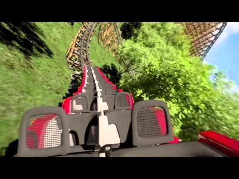 Lightning Rod Reverse POV Promo Dollywood COMING SOON 2016! New RMC Launched Roller Coaster 60fps