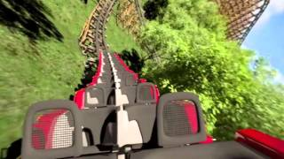 lightning rod reverse pov promo dollywood coming soon 2016 new rmc launched roller coaster 60fps