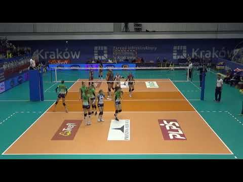 Agnieszka Kąkolewska MIDDLE BLOCKER Polish League 2017-2018 nr 5 blue shirt