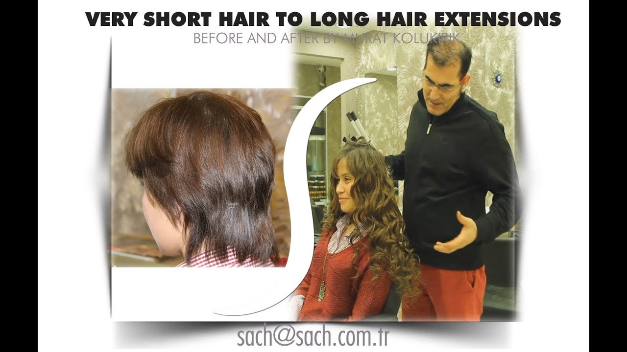 How To Do Hair Extensions On Very Short Getting Course Turkey