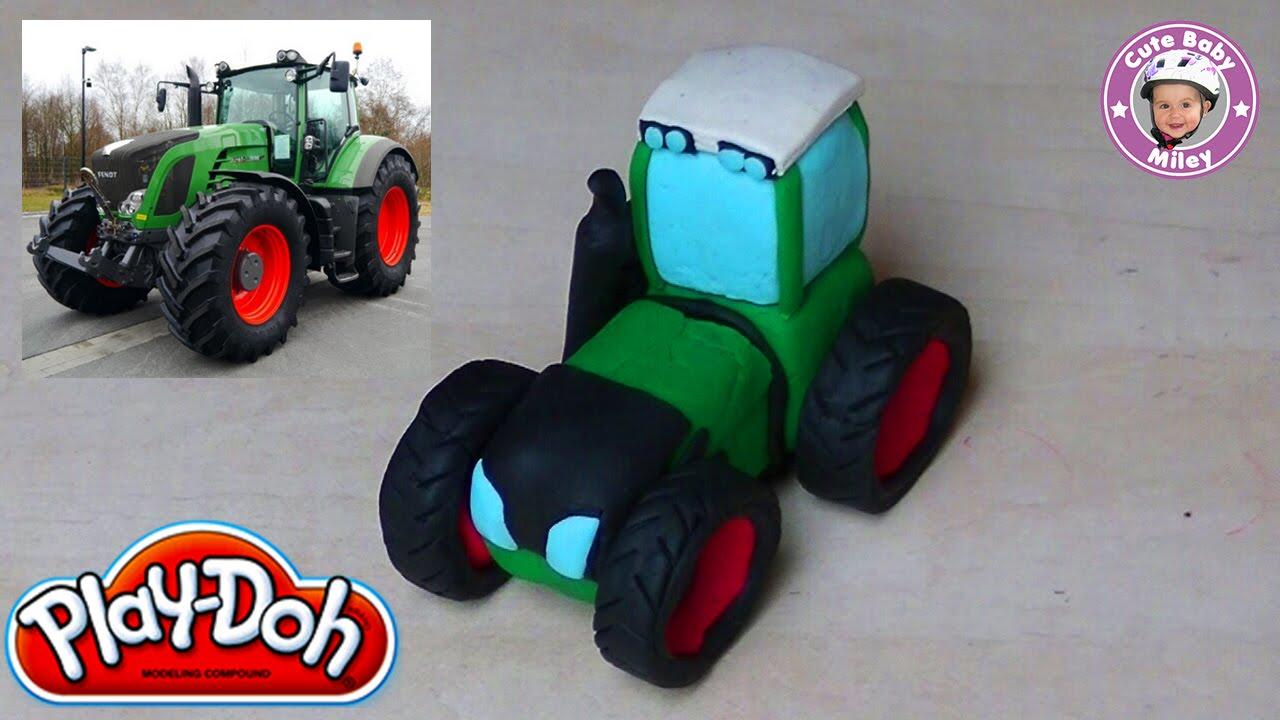 Play Doh Fendt 930 Traktor Mit Knetmasse Nachgebaut Youtube