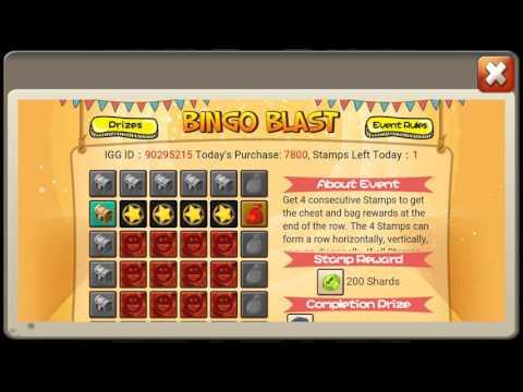 Castle Clash Bingo Blast Shards And Gold Key