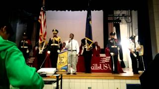 Aviation High School Color Guard Drill Team Presentation of the Colors at Thomas Edison High School
