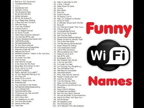 creative wifi names 2017