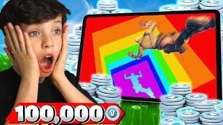 PC vs Mobile Rainbow Dropper vs My Little Brother for 100K VBucks!