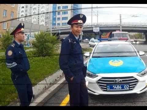 ГАИ Алматы. Попытка развода девушки за пешехода
