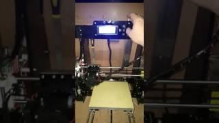 Primer encendido de impresora 3d