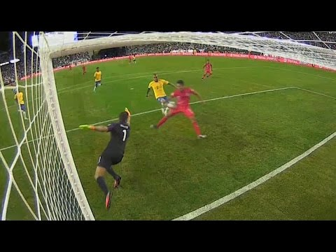 Raul Ruidiaz's hand of God goal knocks Brazil out of Copa America