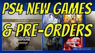 New Games Released PS4 & New PS4 Pre-Orders