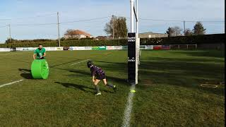 Rugby Donuts placage posture
