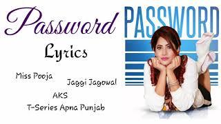 PASSWORD LYRICS Miss Pooja Jaggi Jagowal