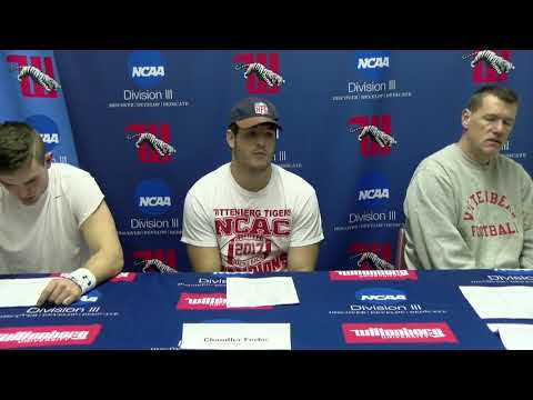 Wittenberg University NCAA DIII Football First Round Press Conference
