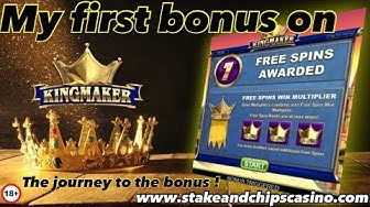 KINGMAKER SLOT - JOURNEY TO THE BONUS 🚨 Online Casino review win