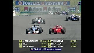 1997 Damon Hill storms into the lead in Hungary (50fps BQ)