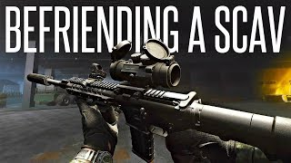 ATTEMPTING TO BEFRIEND A SCAV (AS PMC) - Escape From Tarkov .12 PVP Gameplay
