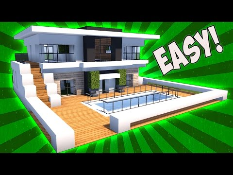 Minecraft: How To Build A Small Modern House Tutorial ( 2017